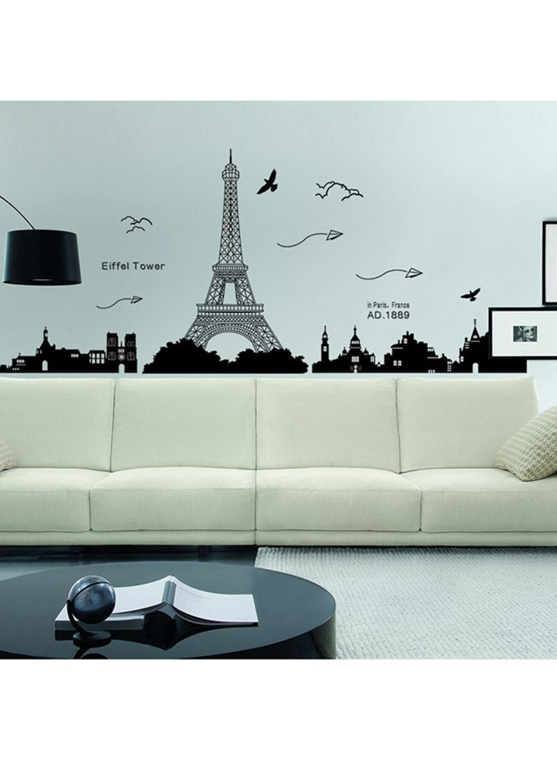 Shop Voberry Removable Eiffel Tower Wall Stickers Decals Art Mural Vinyl  Home Room Decor DIY Black online in Dubai, Abu Dhabi and all UAE