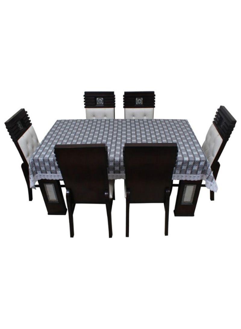 Picture of: 8 Seater Rectangular Dining Table Cover Grey White Price In Saudi Arabia Noon Saudi Arabia Kanbkam