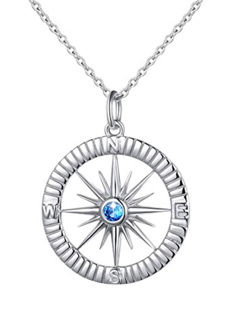 Shop SILVER MOUNTAIN 925 Sterling Silver Compass Pendant
