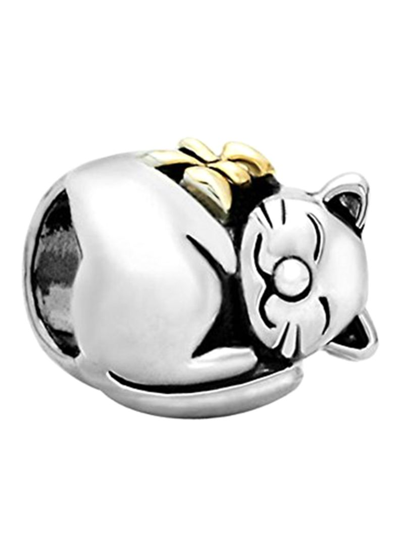 925 Sterling Silver Lucky Cat Charm