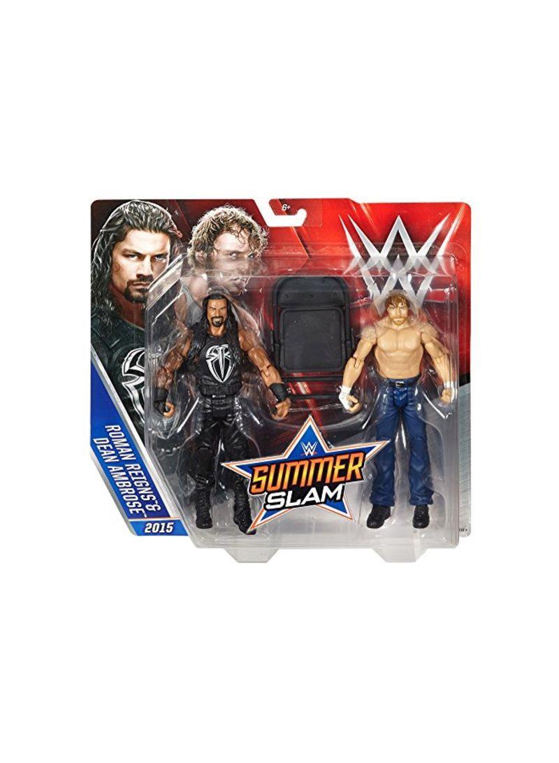WWE SUMMER SLAM ROMAN REIGNS /& DEAN AMBROSE 2015 ACTION FIGURE DTF88 *NEW*