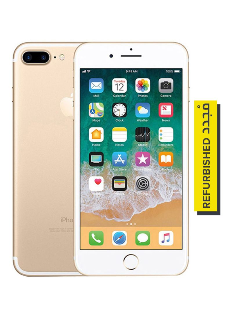 تسوق أبل ومستعمل ومجدد آيفون 7 بلس بتطبيق فيس تايم لون ذهبي سعة