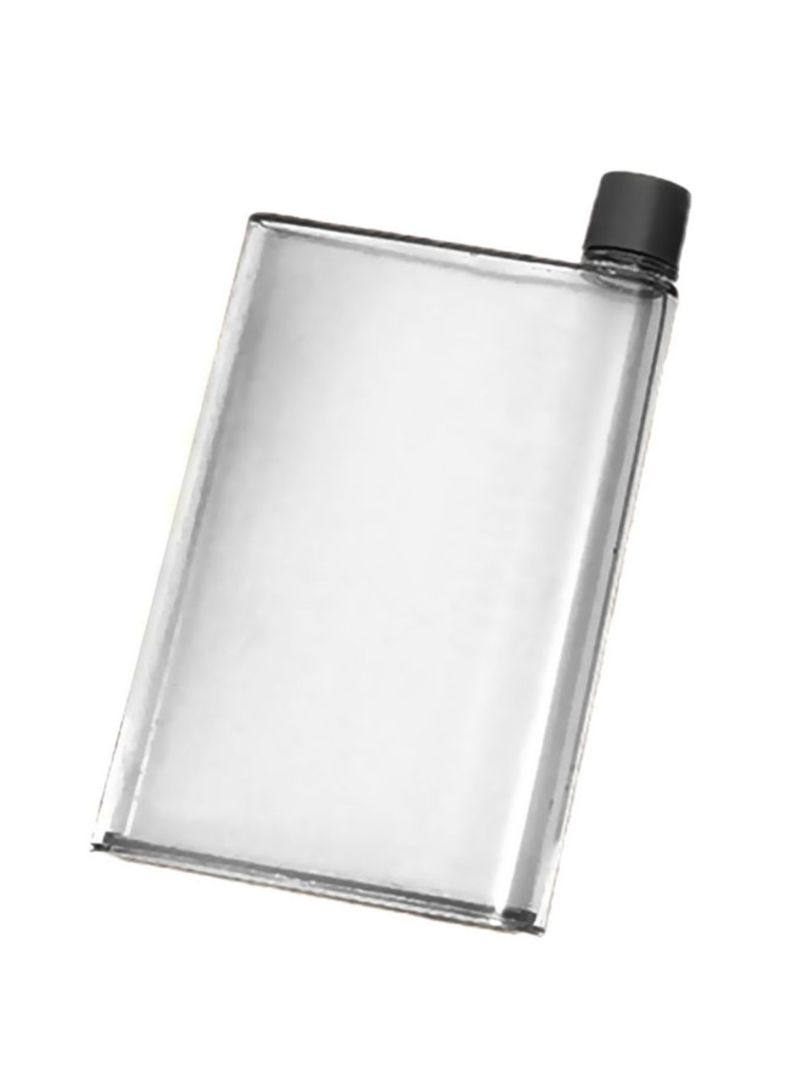 Flat Water Bottle >> Shop Generic Square Flat Water Bottle Clear Black 215x135 Millimeter