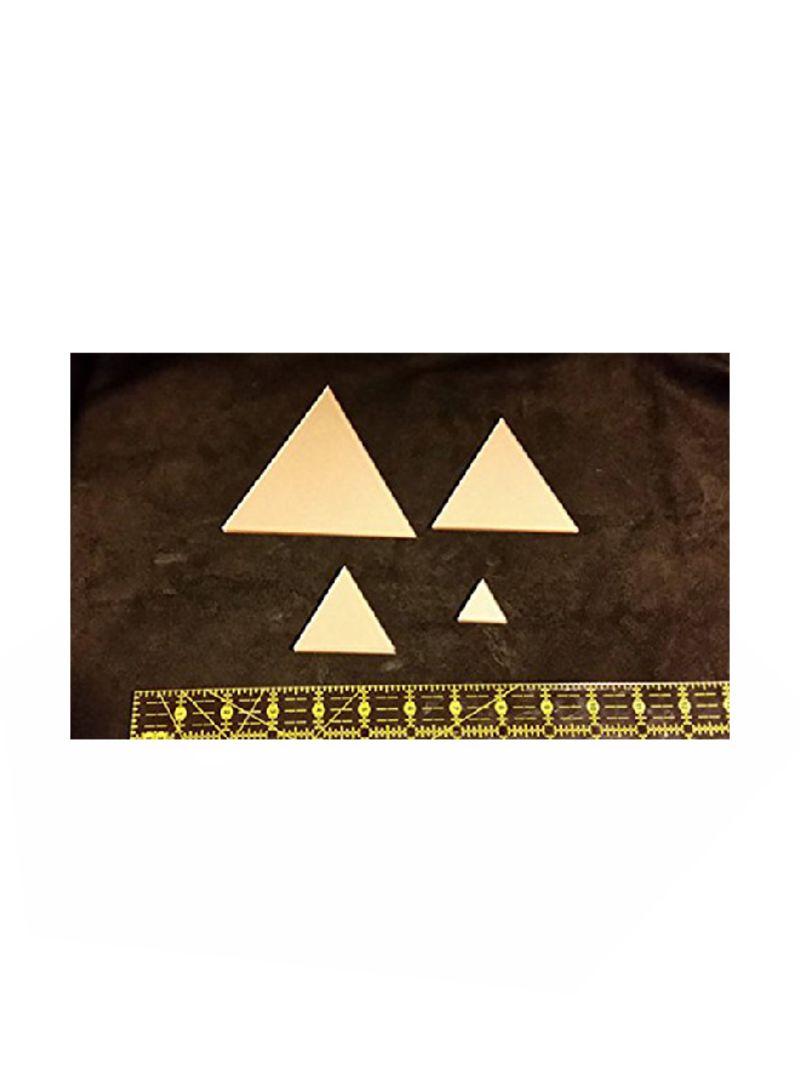 Shop LaserThing 8-Piece Itajime Shibori Triangle Templates