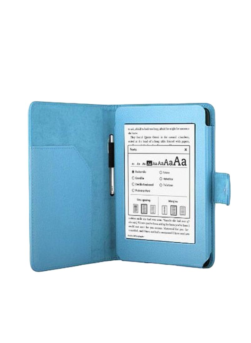 Shop PU Folio Case Cover For Amazon Kindle Paperwhite Blue online in Dubai,  Abu Dhabi and all UAE