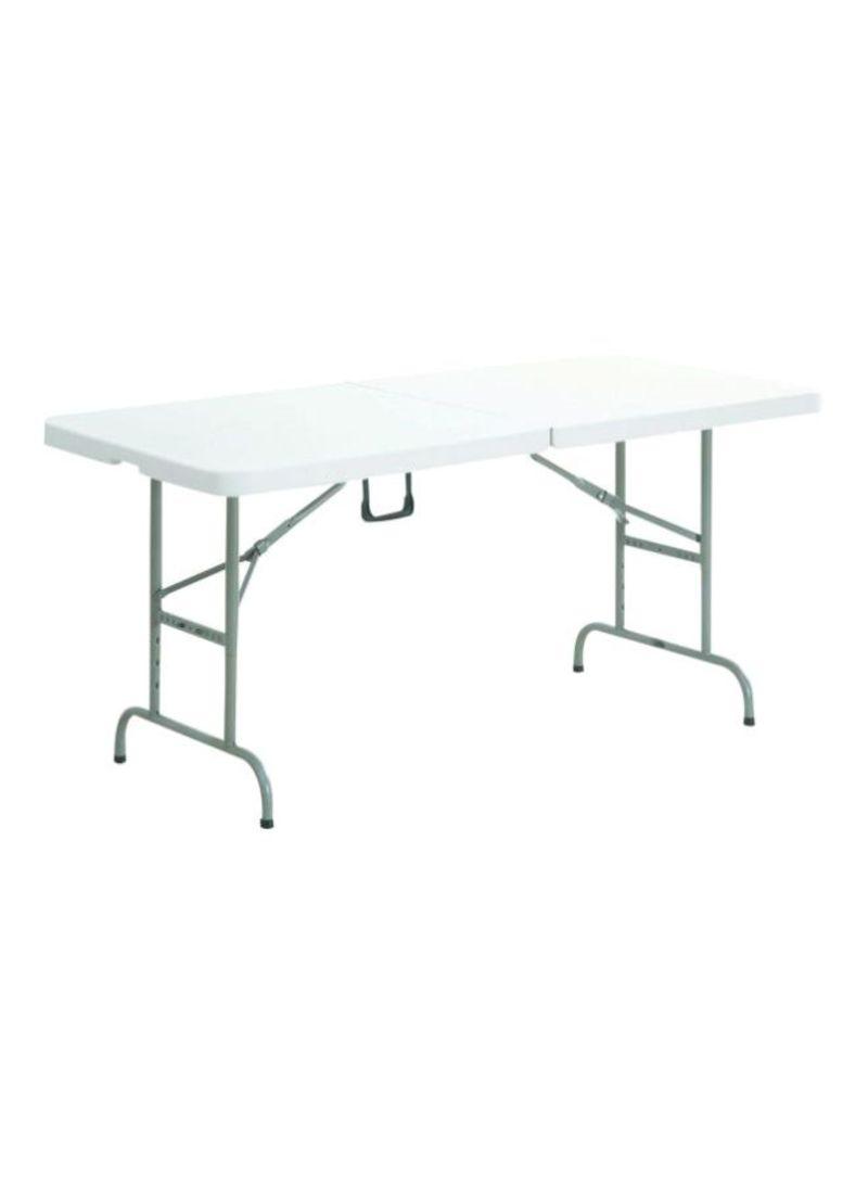 Portable Plastic Folding Table White Grey 120x60x75centimeter Price In Saudi Arabia Noon Saudi Arabia Kanbkam