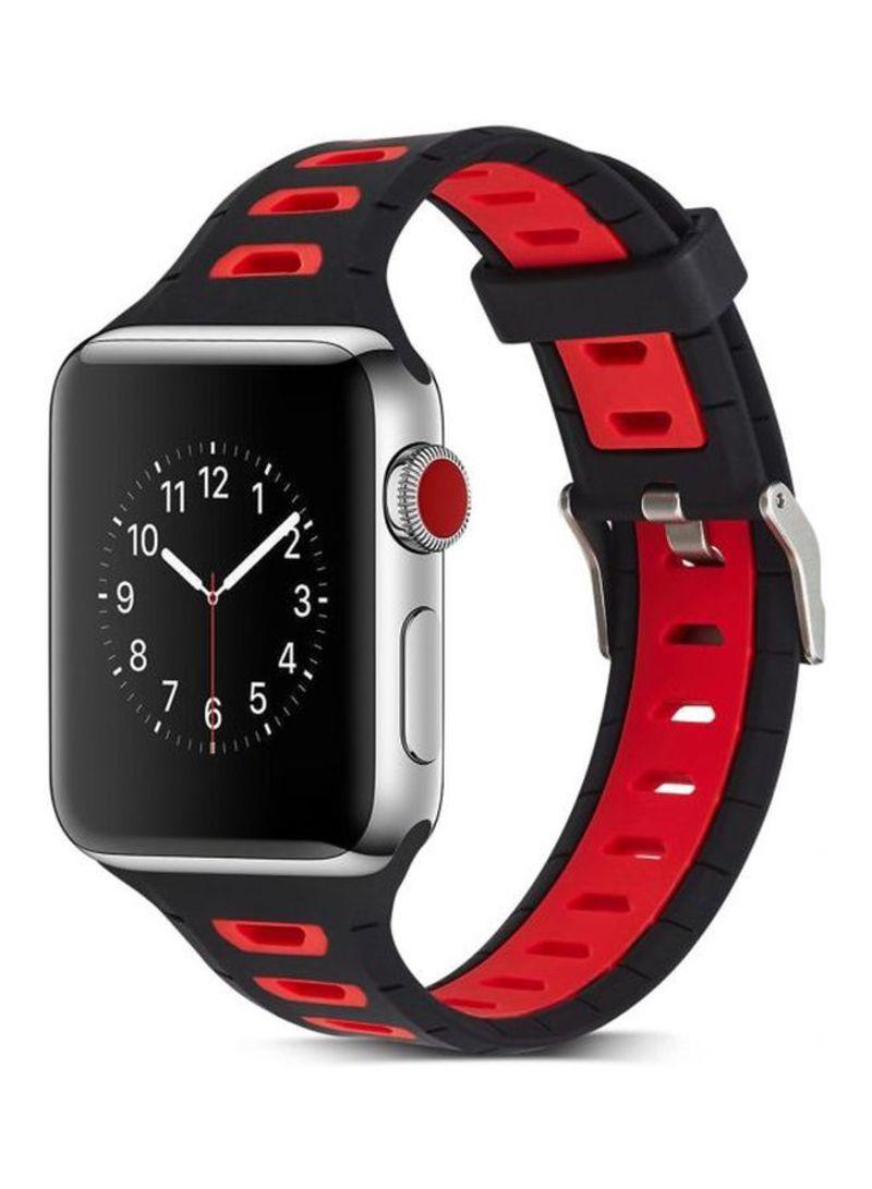7fd5a873ed9f9 تسوق ماركة غير محددة وسوار بديل للساعات الذكية مقاس 38 مم أسود أحمر ...