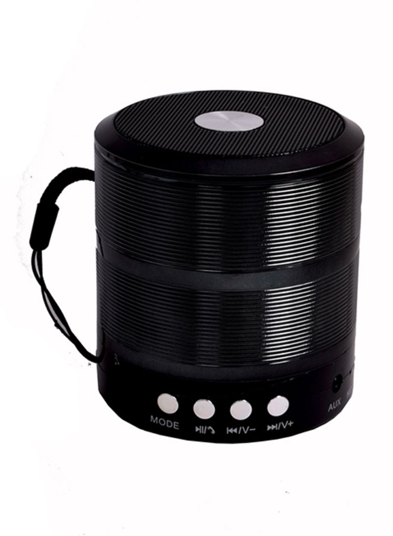 Bluetooth Stereo Speaker With Aux Wire أسود