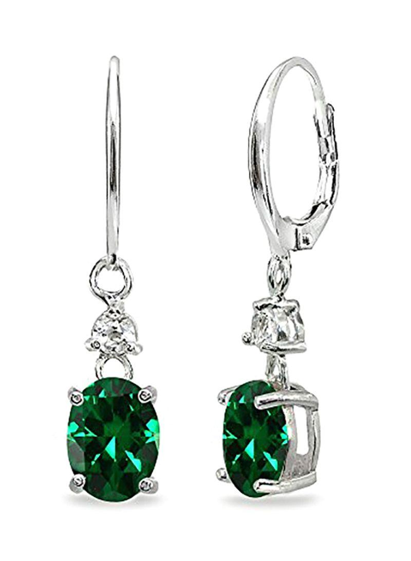925 Sterling Silver Oval Link Dangle Earrings