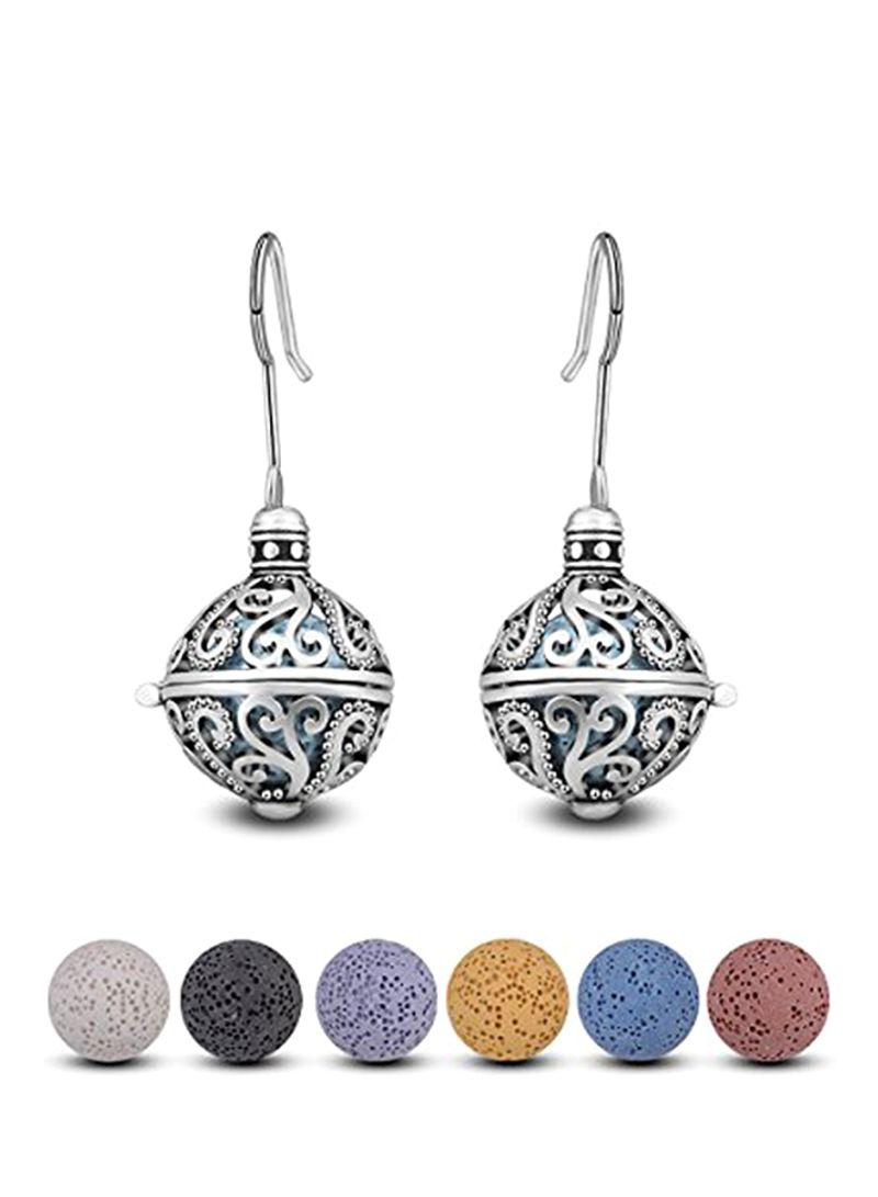 76b331c21 Shop INFUSEU Silver Plated Teardrop Earrings online in Dubai, Abu ...