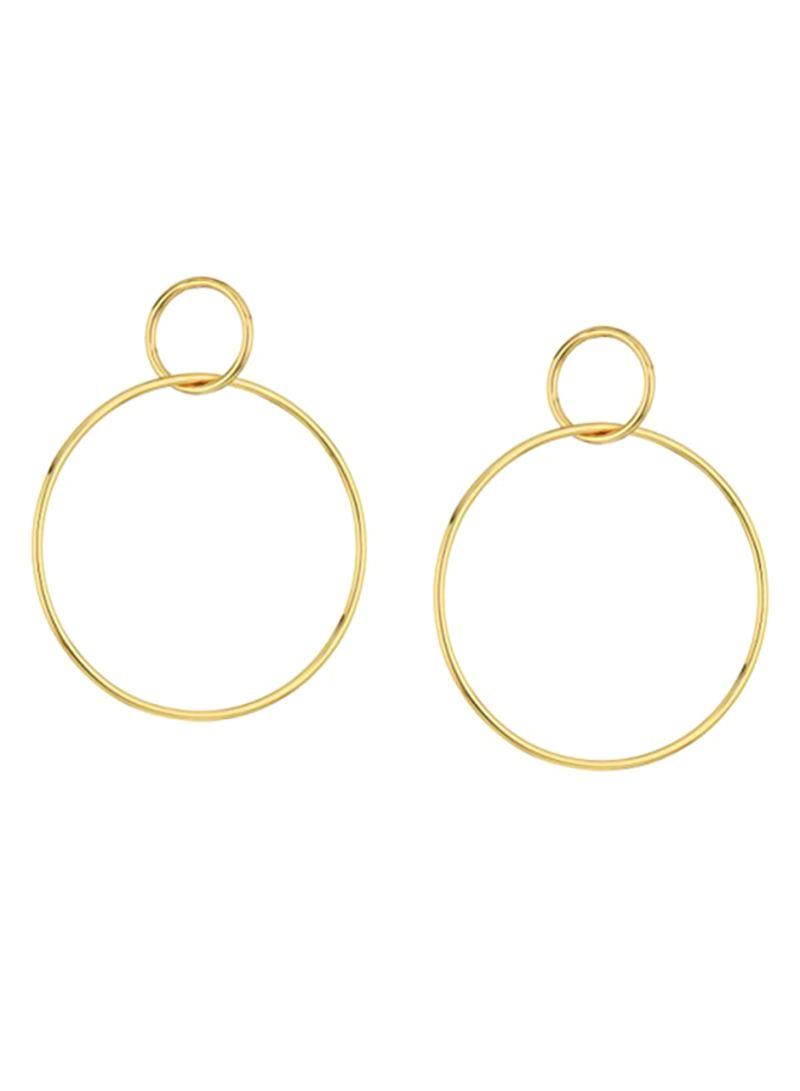 Shop Jules Smith Brass Hoops online in Dubai, Abu Dhabi and