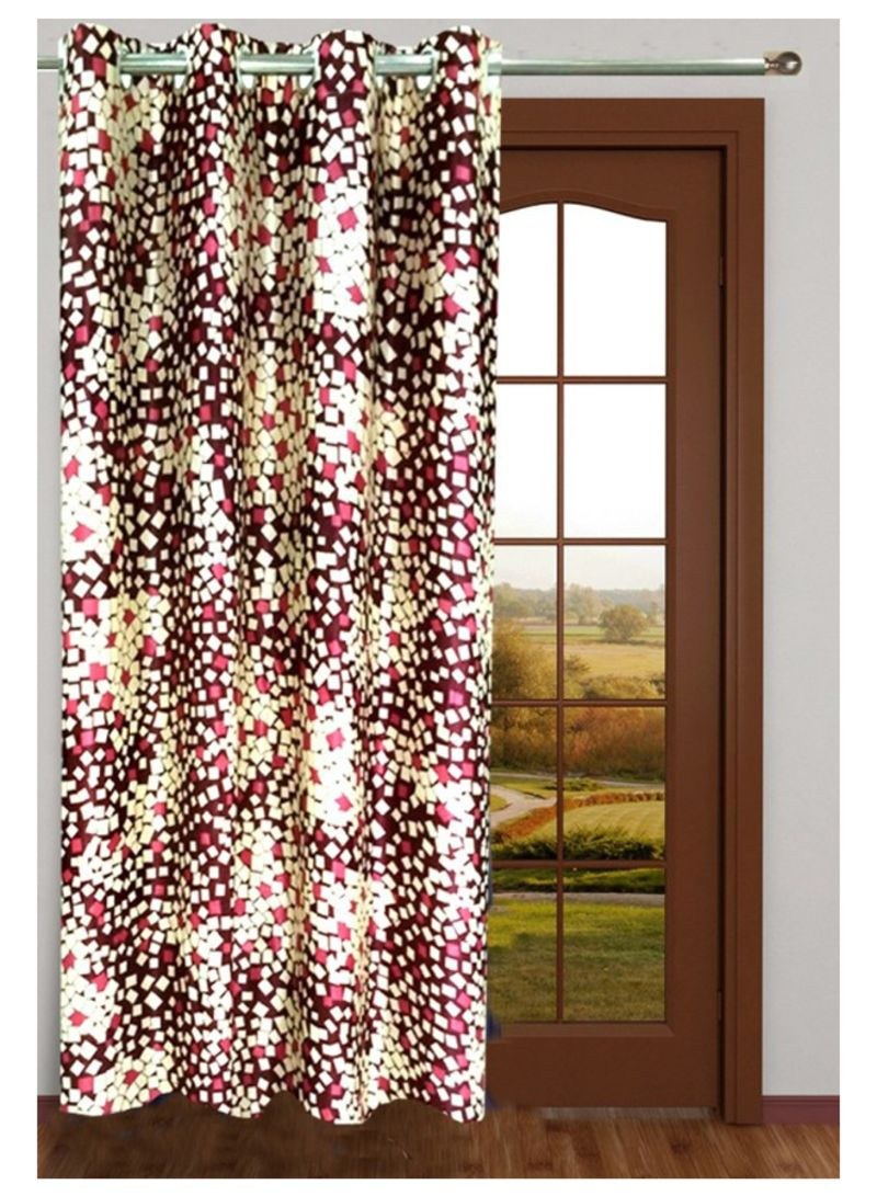 Geometric Printed Long Door Curtains