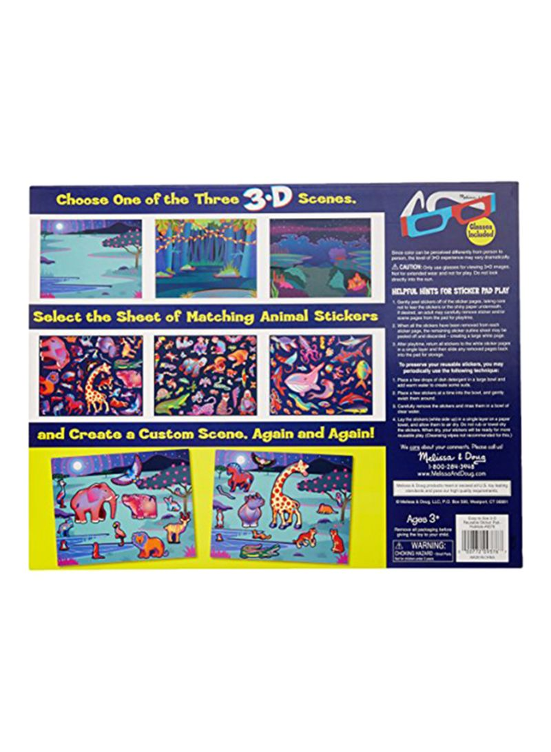 Shop Melissa Doug Easy To See 3 D Sticker Pad Habitats