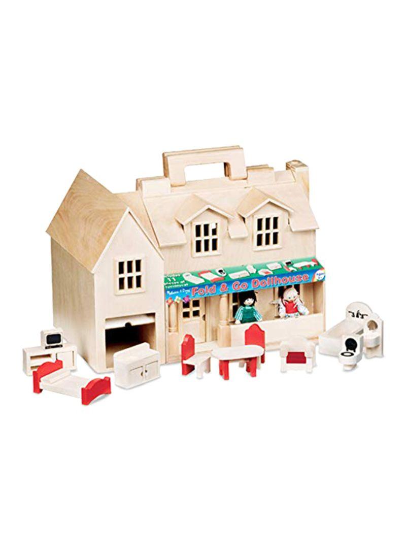 Shop Melissa Doug Fold Go Dollhouse Online In Riyadh