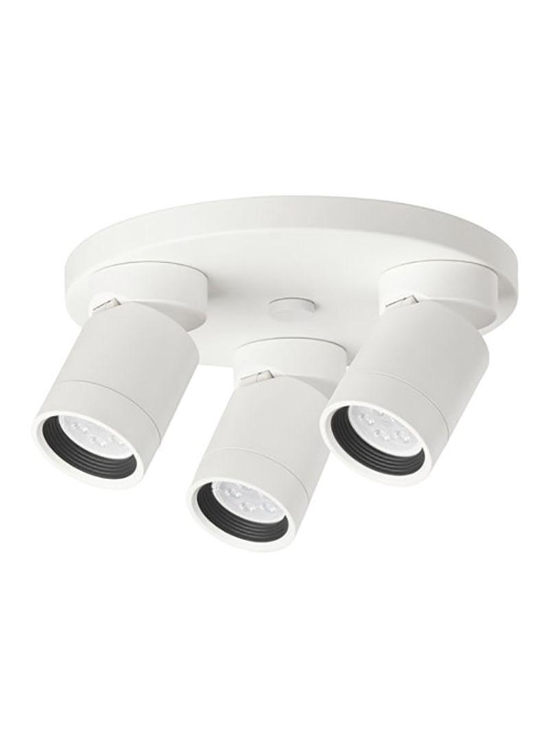 on sale 378cc 3c77b Shop Ikea Nymåne 3-Spots Ceiling Track Light White 25 ...