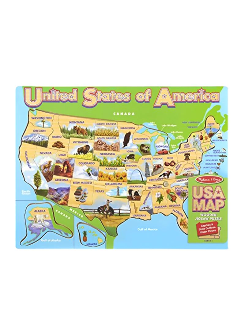 Shop Melissa & Doug 45-Piece USA Map Jigsaw Puzzle 9073 ...