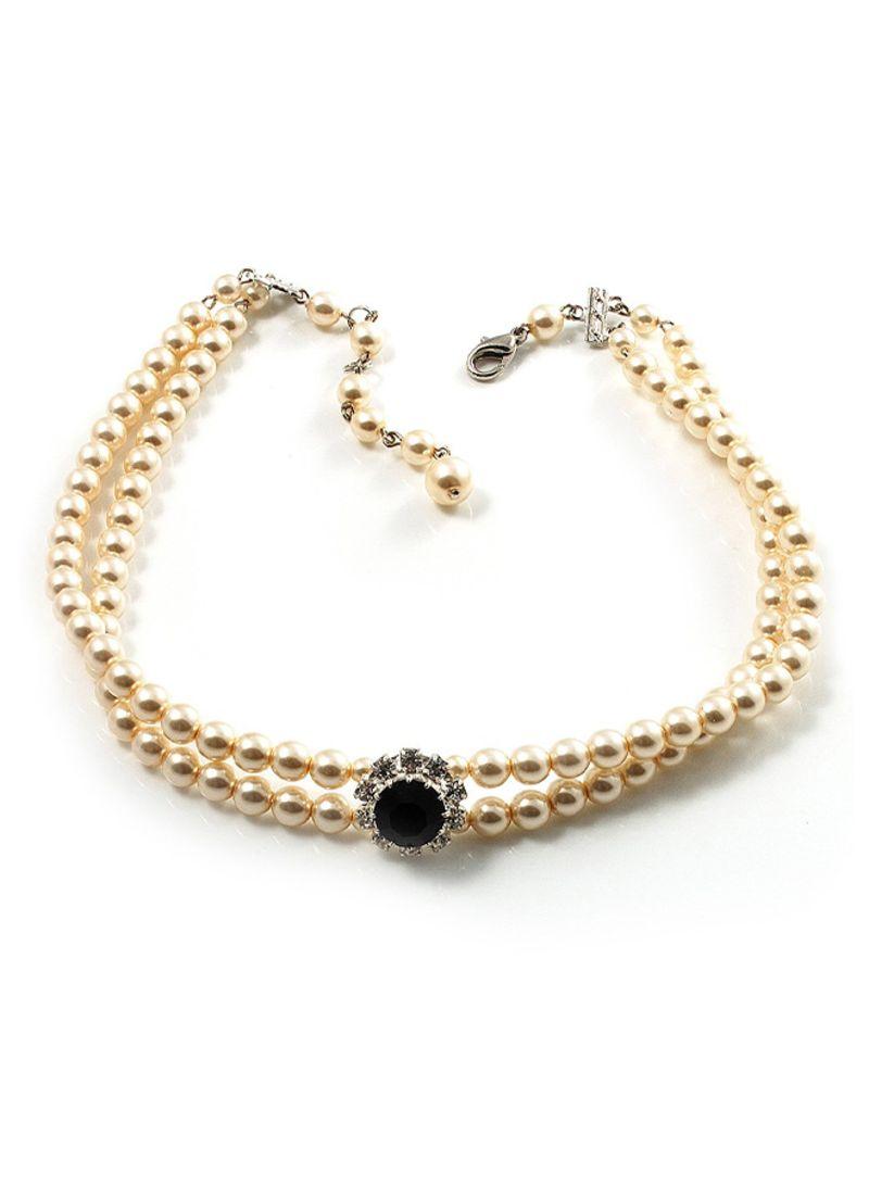 0cff4d289da2f Shop Avalaya 2 Strand Imitation Pearl Choker Necklace online in Dubai, Abu  Dhabi and all UAE