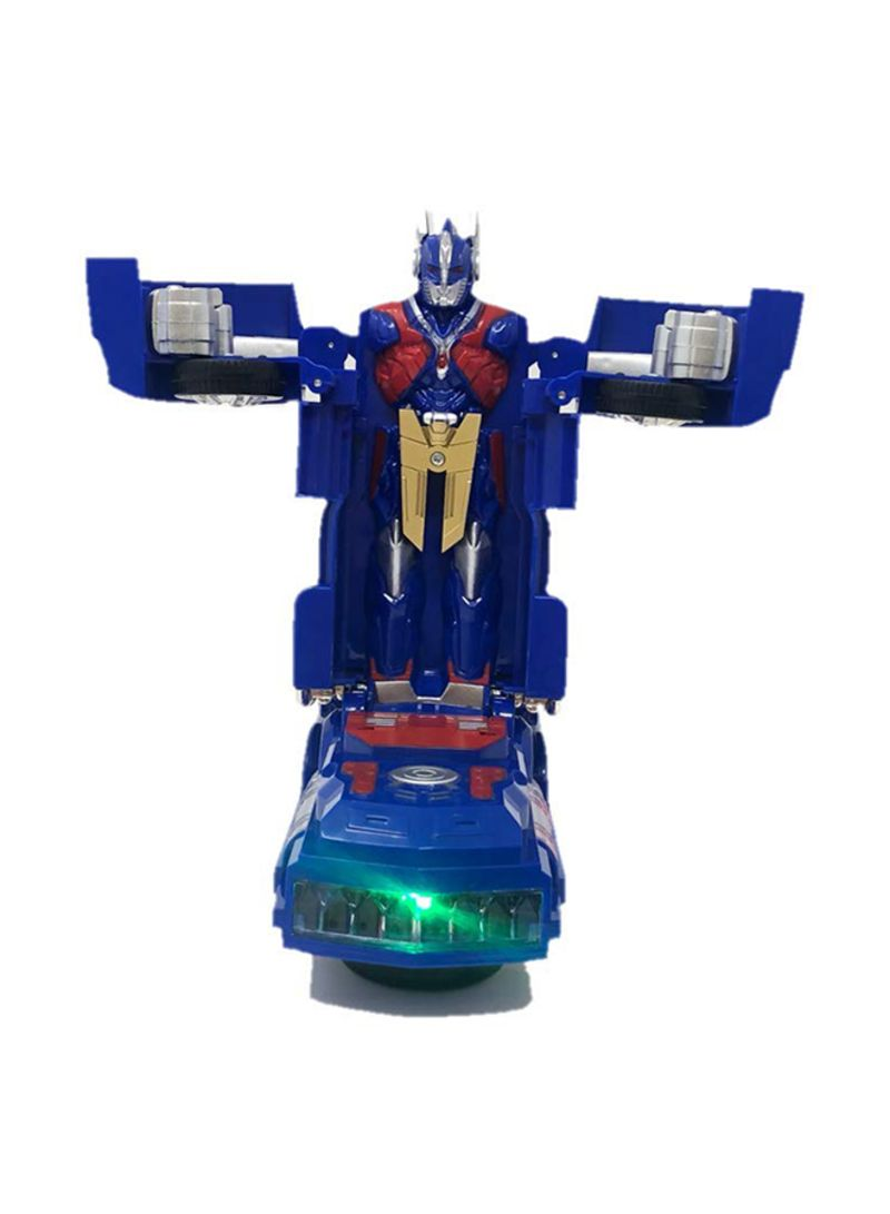 INCHOI Robot Races car Battery Operated Bump and Go Transforming Toys for Kid...
