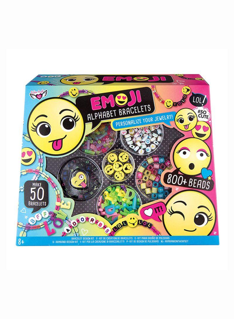 9814dced943c Shop Fashion Angels Emoji Alphabet Bracelets Kit Craft online in ...