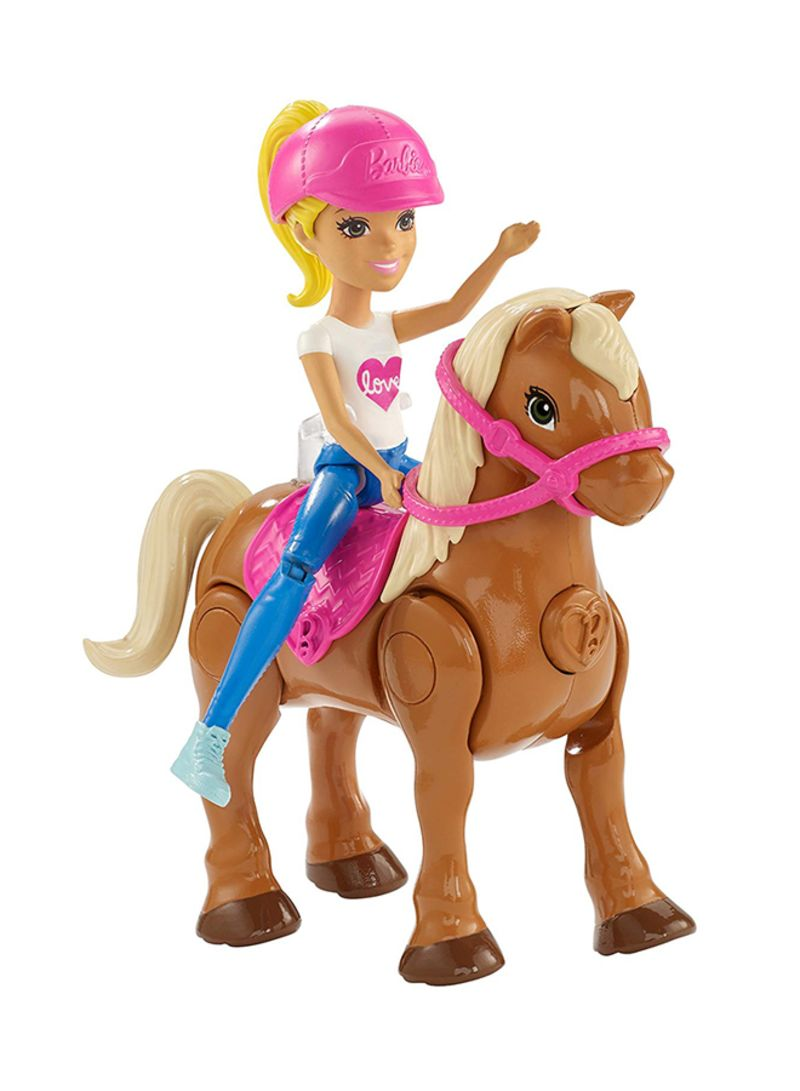 Shop Barbie On The Go Caramel Pony And Doll Online In Dubai Abu Dhabi And All Uae