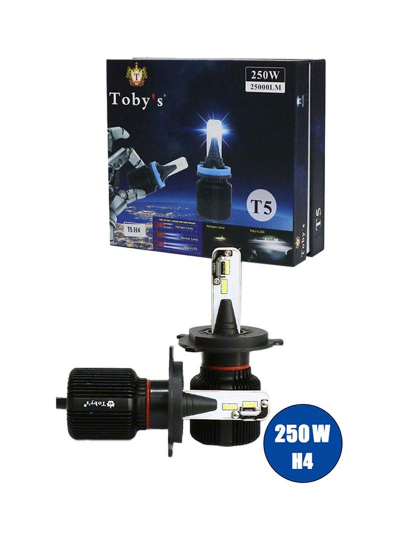 Shop Toby's T5 H4 Socket Led 25000Lm Led Headlight 250W 12V Headlight Cob  Chip Bulb Inside online in Dubai, Abu Dhabi and all UAE