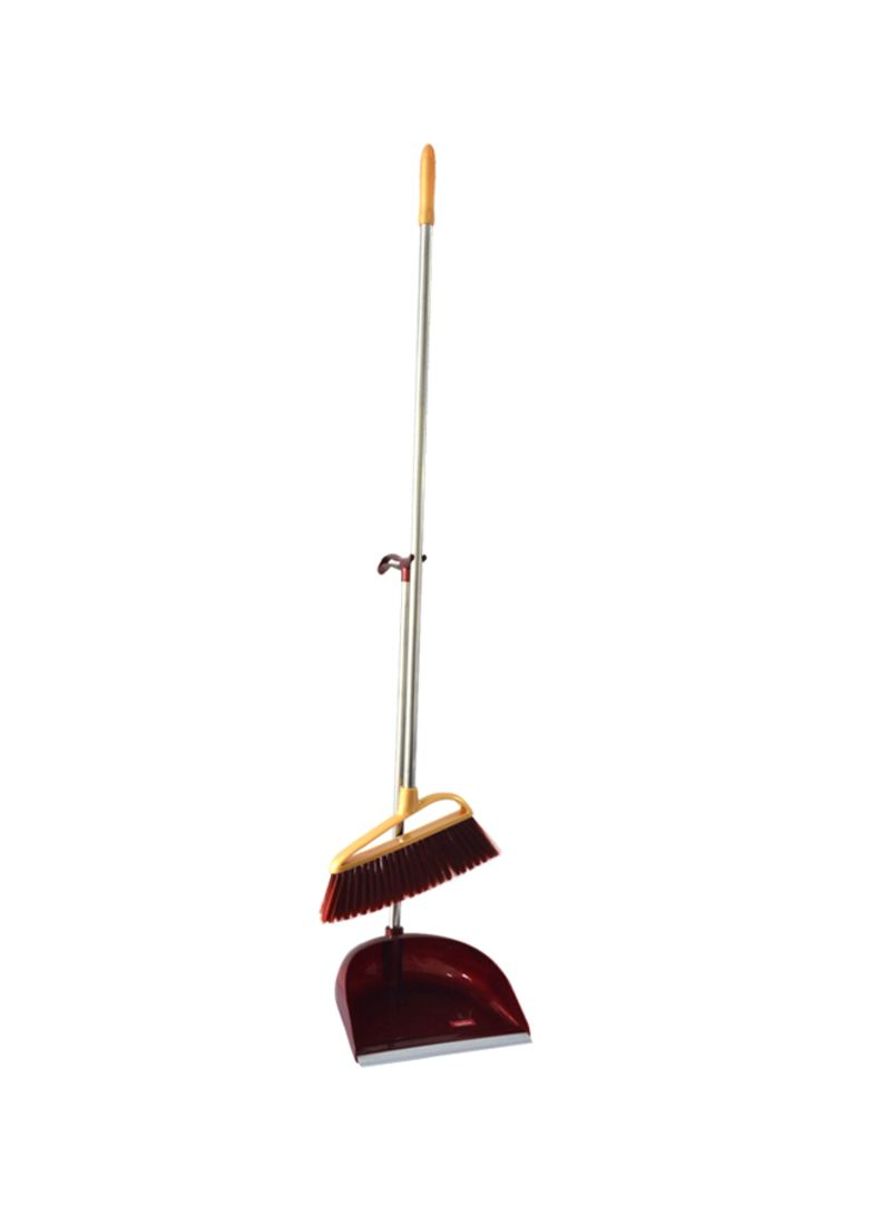 Shop Royalford Broom With Dustpan Yellow/Red/silver online in Dubai, Abu  Dhabi and all UAE