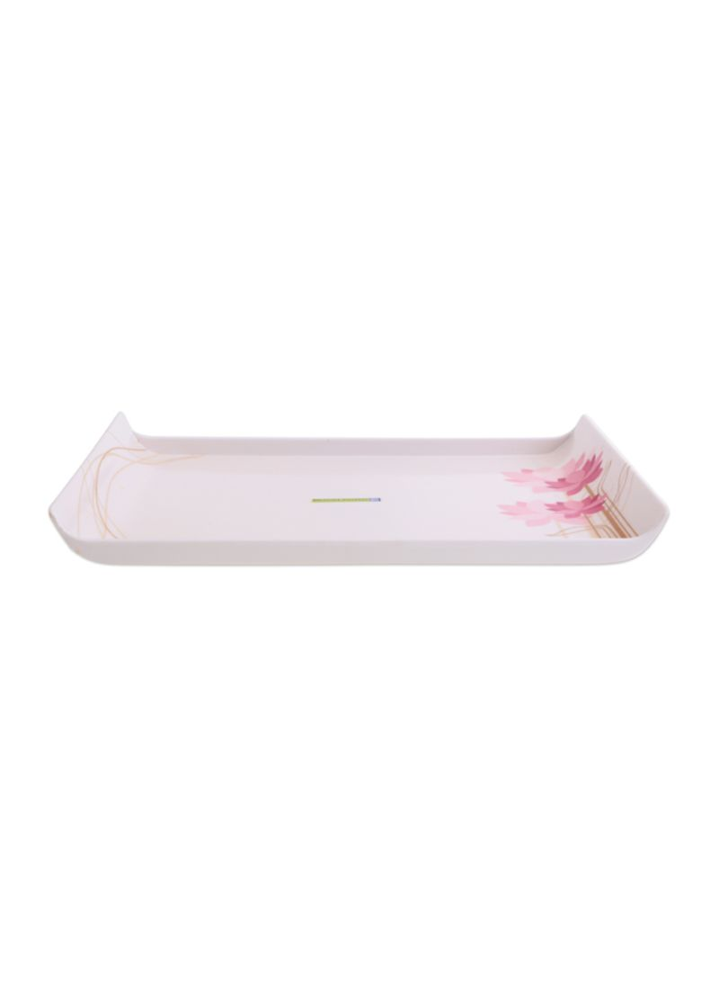 Shop Royalford Melamine Boat Tray White/Pink/Brown 30 9x21 4x1 5 centimeter  online in Dubai, Abu Dhabi and all UAE