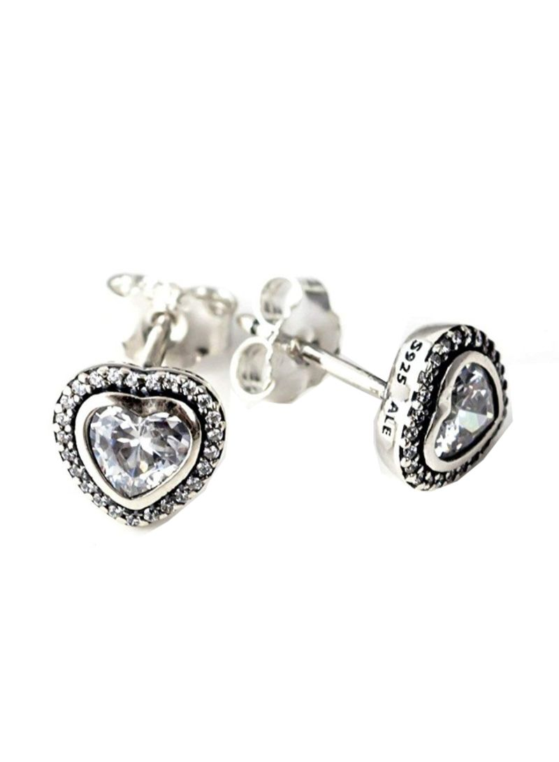 996e94388f7fd Shop Pandora 925 Sterling Silver Sparkling Love Stud Earrings With ...