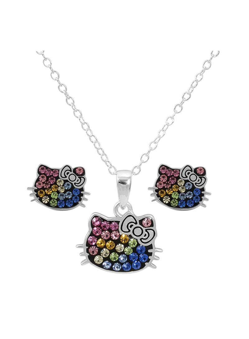 bfcd5309e Shop Hello Kitty 925 Sterling Silver Rainbow Crystal Pendant And ...