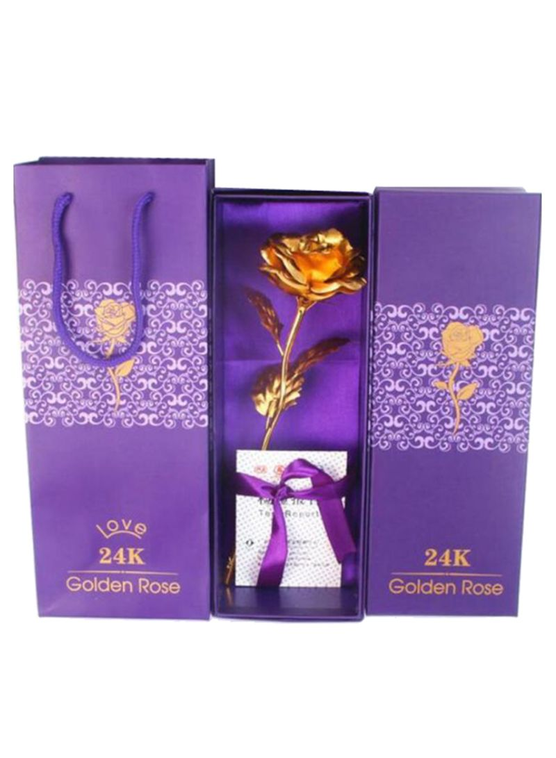 24k Gold Plated Rose Flower With Gift Box Gold 26 X 9centimeter Price In Uae Noon Uae Kanbkam