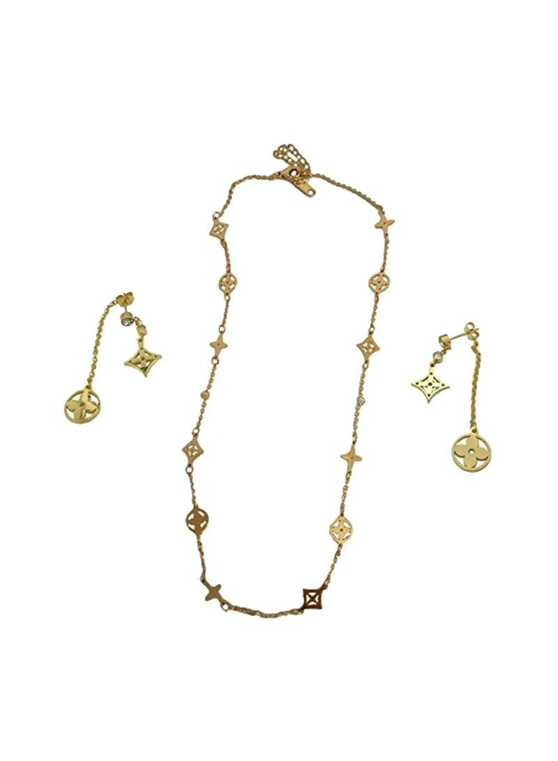 26db086076 Shop BAOLI 18 Karat Gold Plated Multi Clover Jewellery Set online in ...