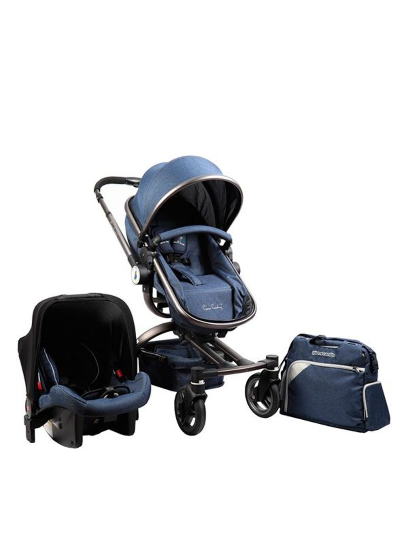 64df4fc5468a9 Pierre Cardin 3 in 1 Baby Carrier and Stroller with Diaper Bag – PS88825  Navy