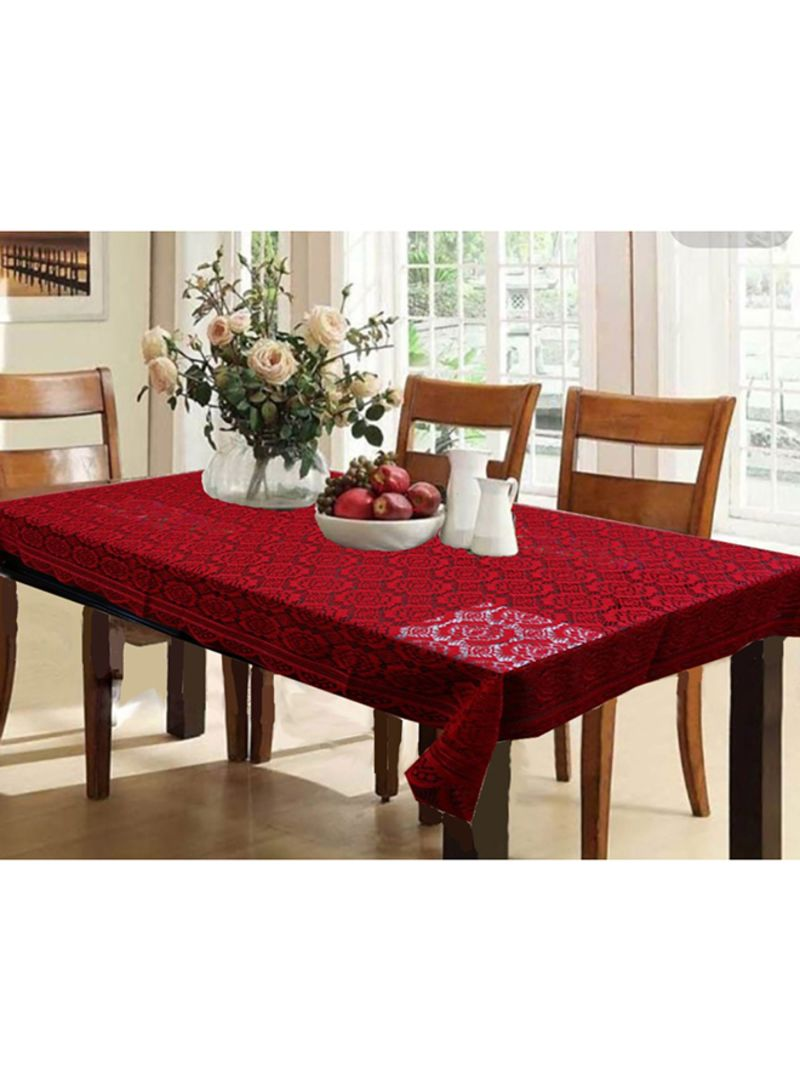 262 & Shop Kuber Industries Printed 6 Seater Table Cover Maroon Standard Centimeter online in Riyadh Jeddah and all KSA