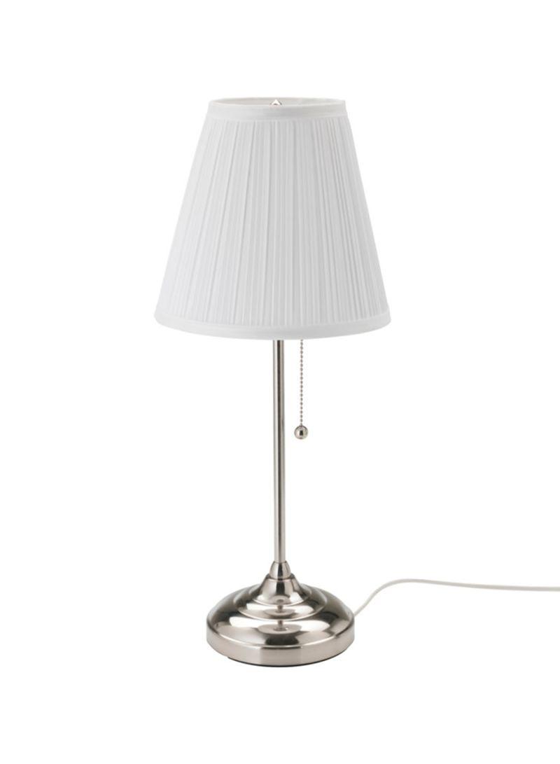 Shop Ikea Arstid Table Lamp White Silver 55 Centimeter