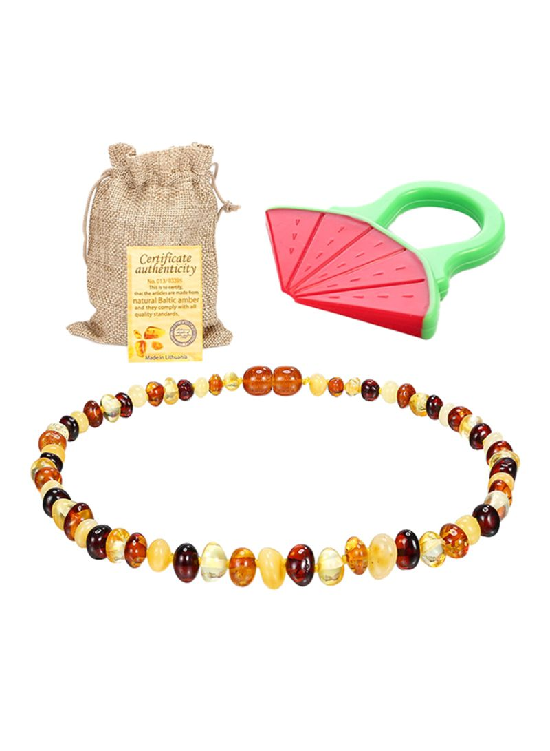 17c00d3d4dbcd Shop Sweetie House Raw Baltic Amber Teething Necklace For Babies ...