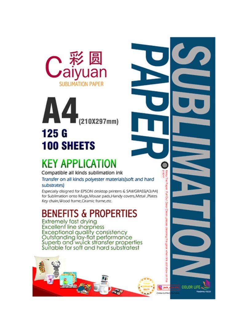 Shop CaiYyuan Sublimation Paper Multicolour online in Riyadh