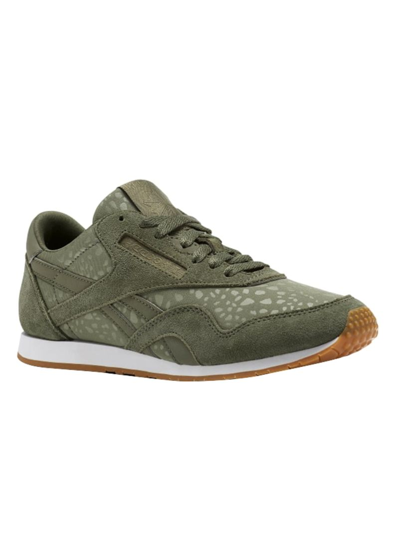 Shop Reebok Classic Nylon Slim Text Lux Lace up Trainers