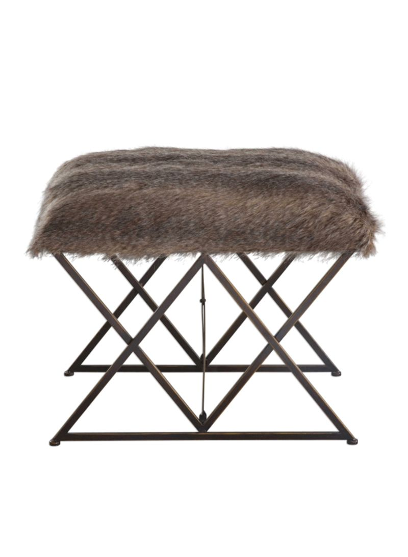 Tremendous Shop Uttermost Small Bench Brown Black 24X20X16 Inch Online Machost Co Dining Chair Design Ideas Machostcouk