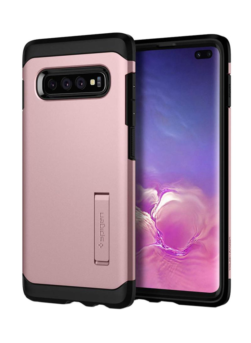 hot sale online f709d 7aeed Shop Spigen Tough Armor Case Cover For Samsung Galaxy S10 Plus Rose Gold  online in Dubai, Abu Dhabi and all UAE
