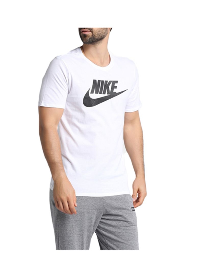 0ec401b43 Shop Nike Futura Round Neck T-Shirt White/Black online in Dubai, Abu ...
