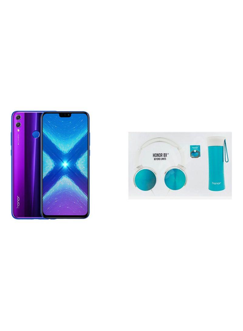 Shop Honor 8X Dual SIM Phantom Blue 128GB 4G LTE + Honor Gift Box online in  Dubai, Abu Dhabi and all UAE