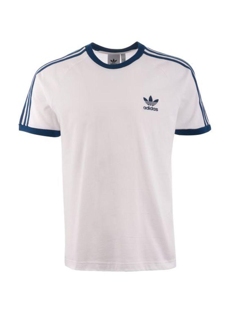 Adidas Originals Retro 3 Stripes T Shirt Whitelegend Marine