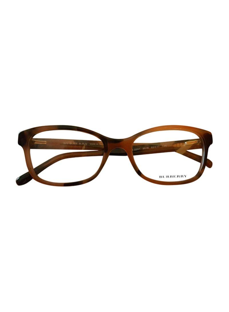 d3bea53087d5 Shop BURBERRY Women's Women's Rectangular Eyeglasses Frame B 2201 ...