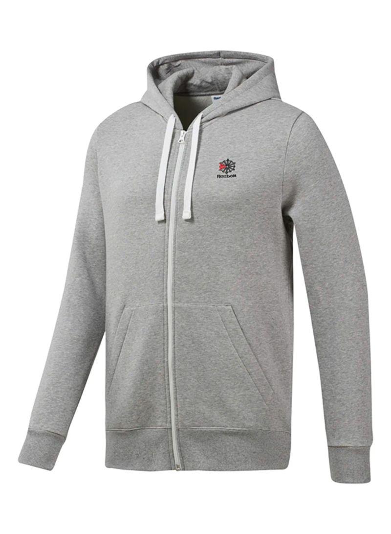 d6b9e11186 Shop Reebok Classic Fleece Full Zip Hoodie Grey online in Dubai, Abu Dhabi  and all UAE