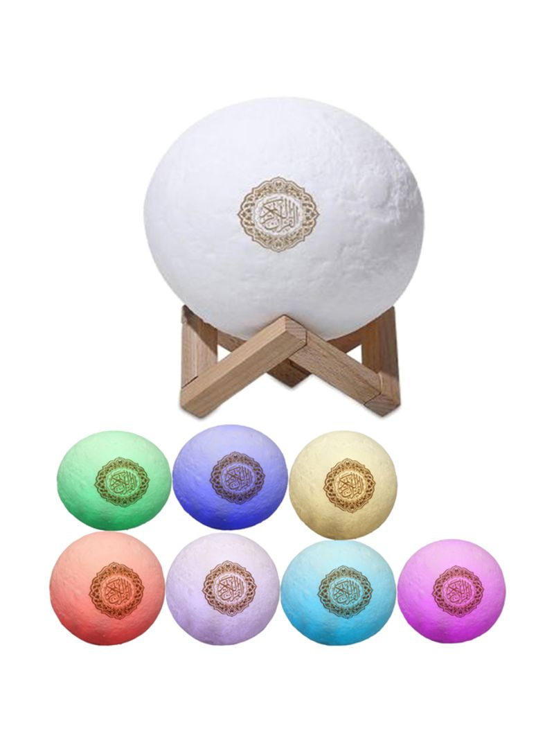 Shop Generic Quran Speaker With Colour Change Moon Lamp online in Dubai,  Abu Dhabi and all UAE