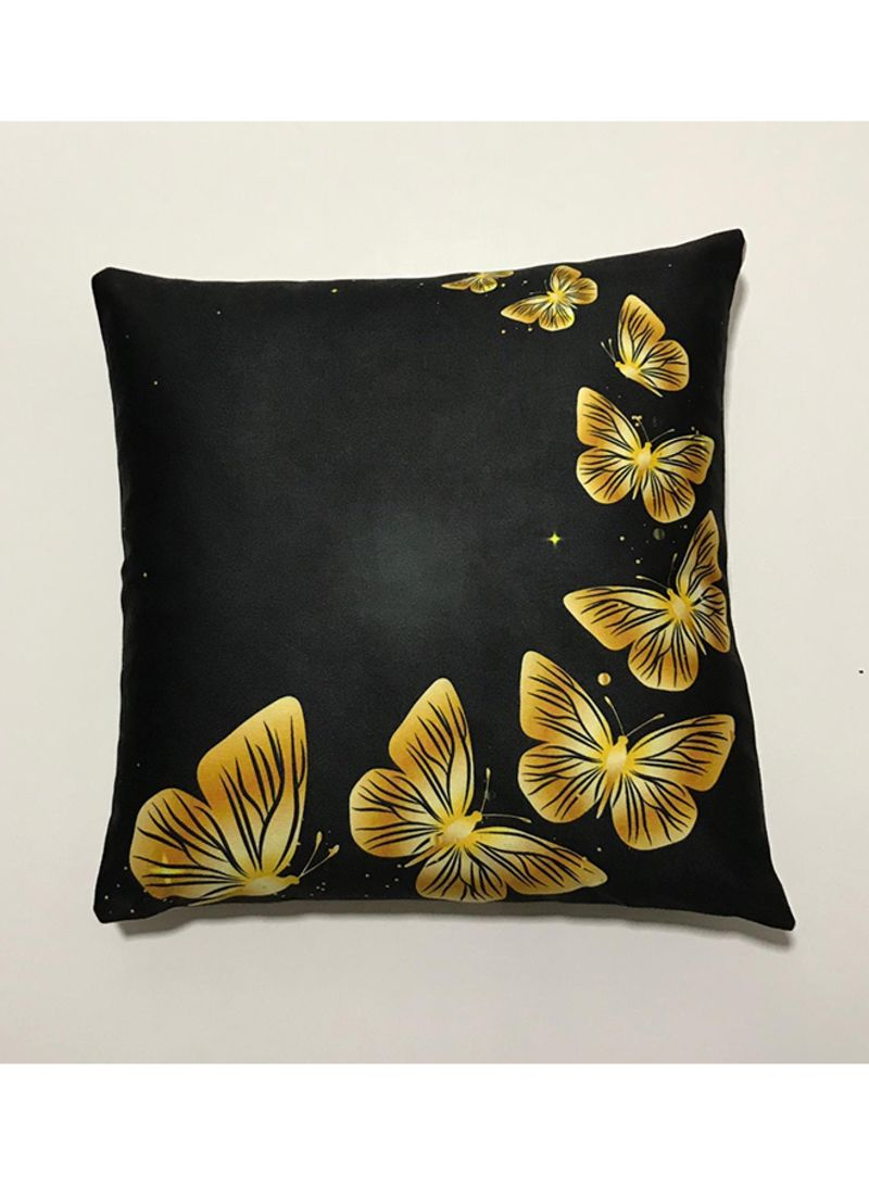 3d Decorative Pillow Cover Butterfly Gold Standard Price In