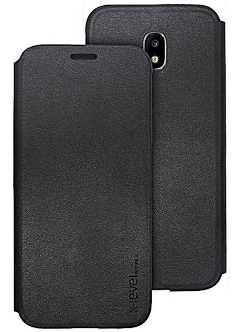online store 76975 351b8 Shop X-level Fib Flip Case Stand For Samsung J7 Pro Slim Leather Flip  Standing Cover Protective Shell Resistant Against Bumps And Scratches Black  ...
