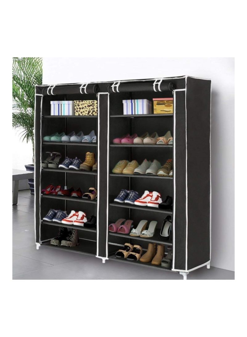 67b61e7ae Shop ALMUFARREJ 12 Layer Shoe Rack Black online in Dubai