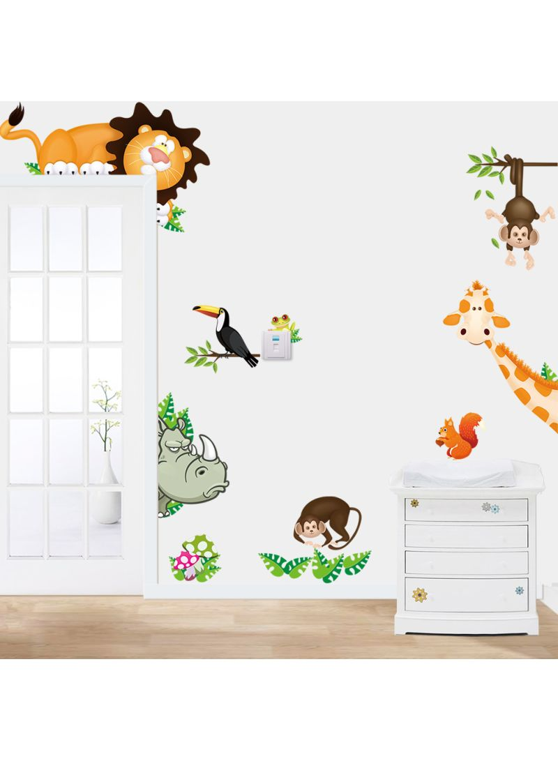 Jungle Wild Animal Wall Sticker Decals For Kids Baby Bedroom ...