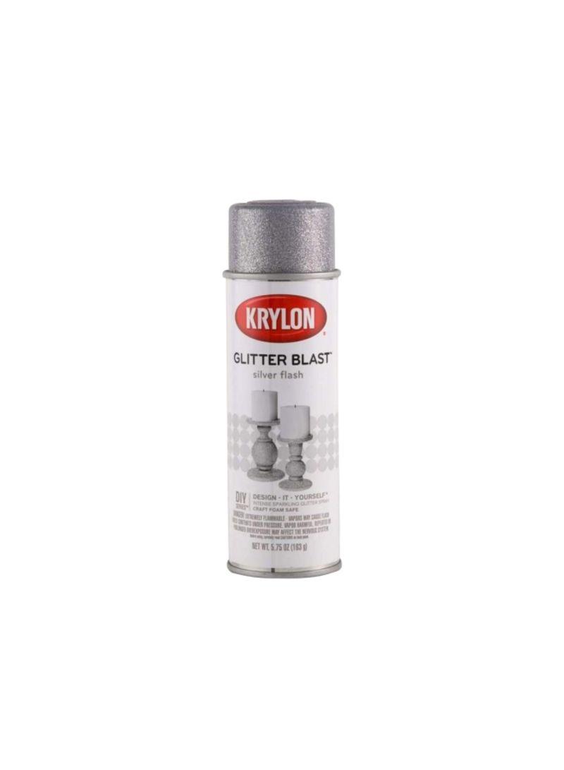 Shop Krylon Glitter Blast Spray Paint Silver Flash 5 75 Ounce Online In Dubai Abu Dhabi And All Uae